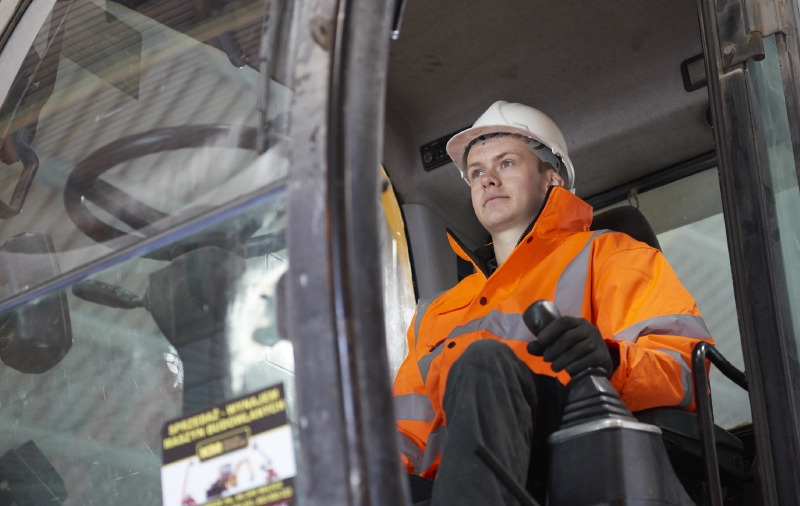Wincanton Case Study - Man driving machinery