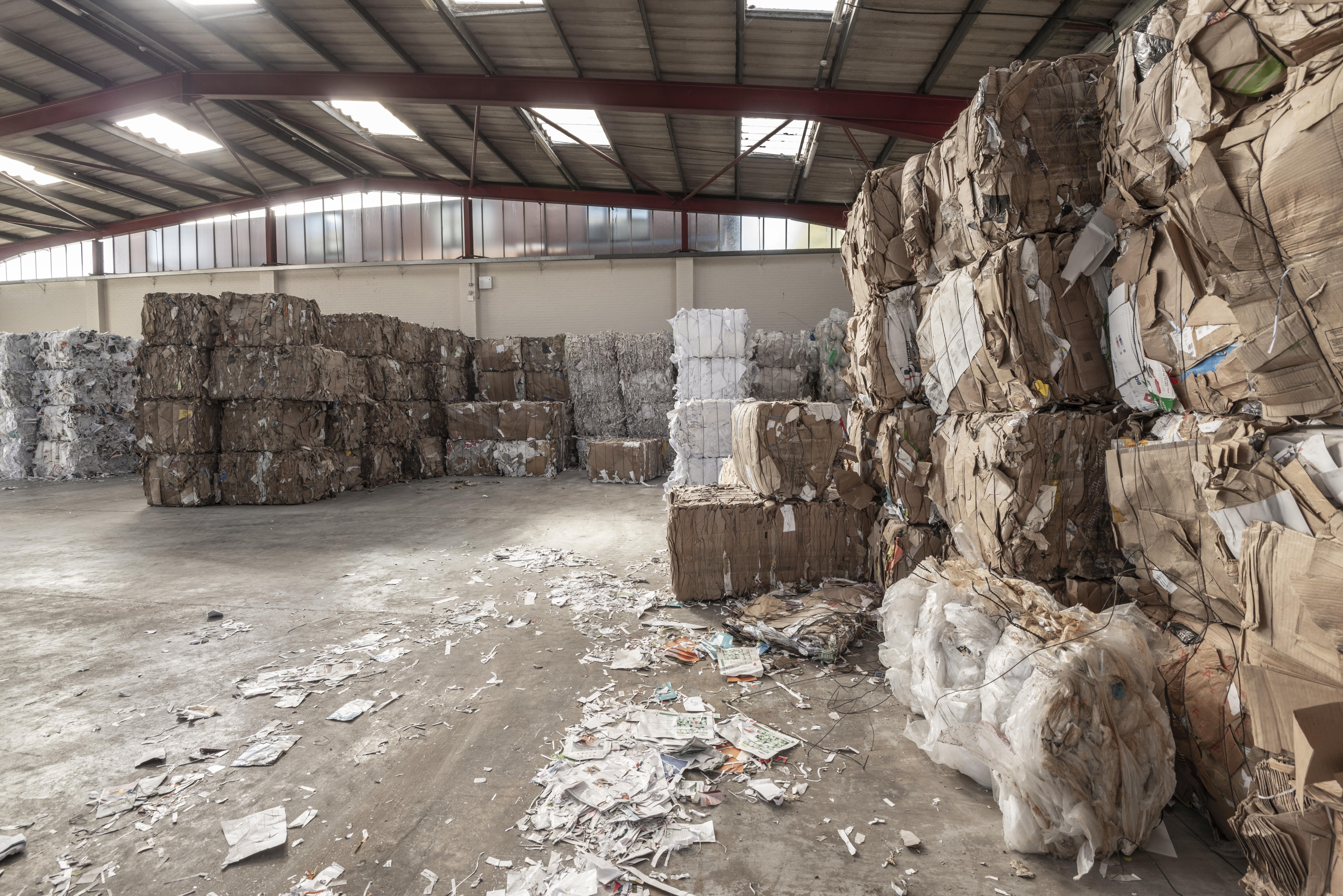 Cardboard paper and plastic Bale Rebates