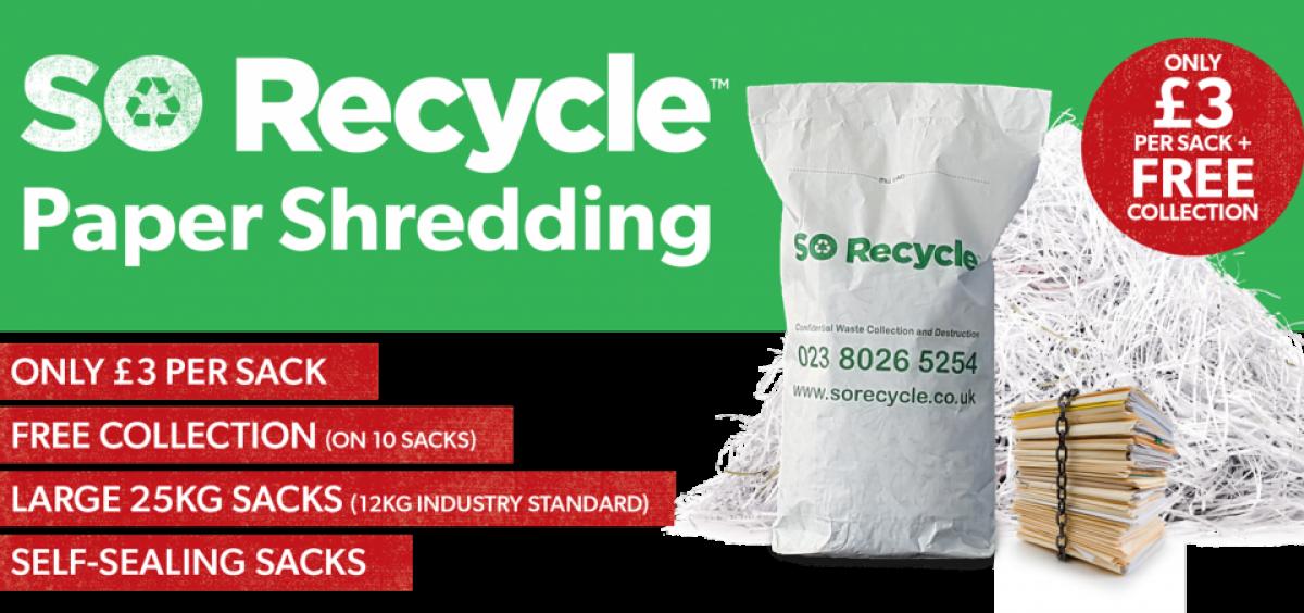 SO Recycle Paper Shredding
