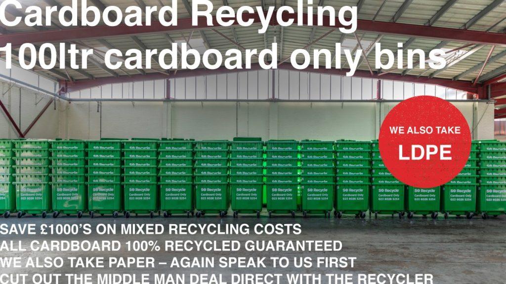 1100Ltr Cardboard only bins