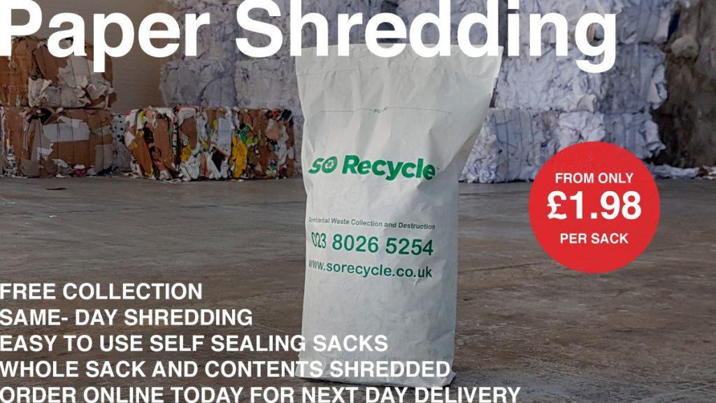 Document Shredding Sacks