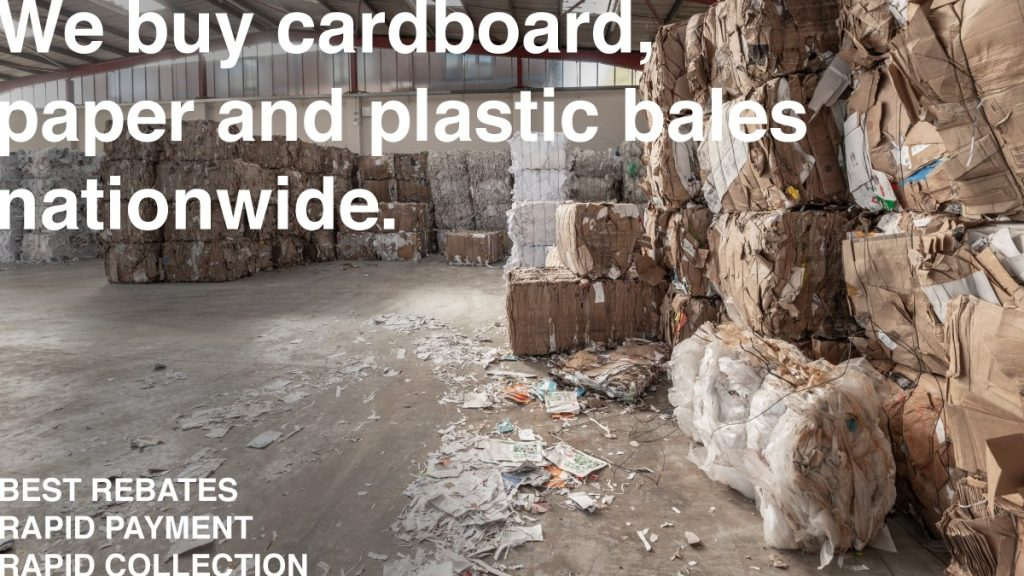Cardboard paper and plastic recycling